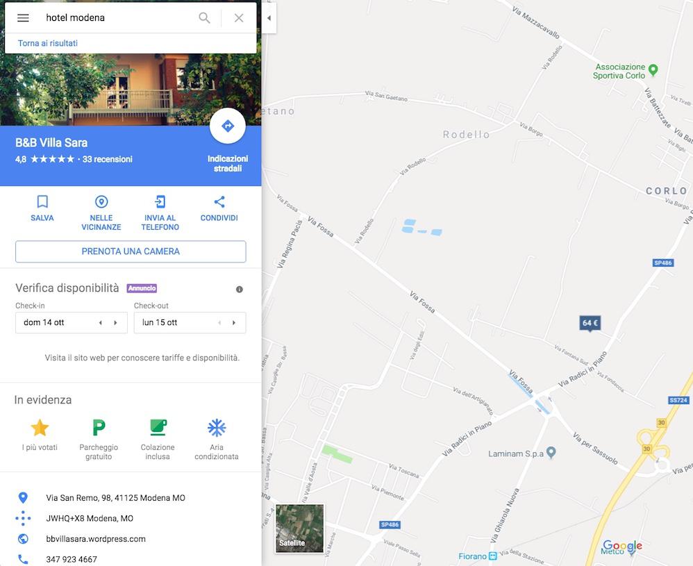 Mappa da google maps