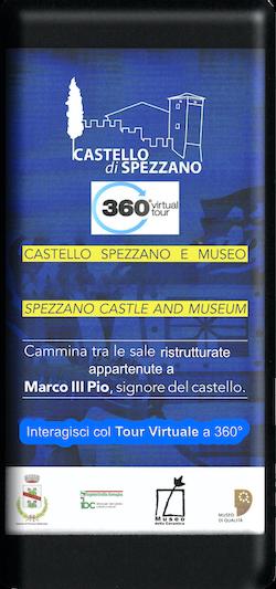 Logo tipo smartphone del castello di Spezzano